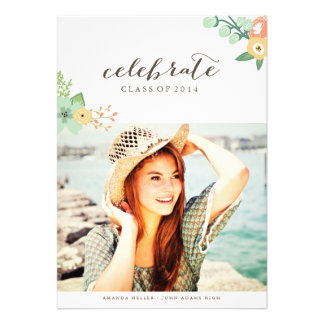 Sweet Floral by Origami Prints Grad Announcement