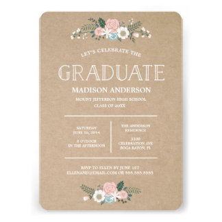Sweet Floral | Graduation Invitation