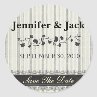 Sweet Floral Save the date Sticker
