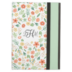 Sweet Florals Monogrammed Ipad Air Case at Zazzle