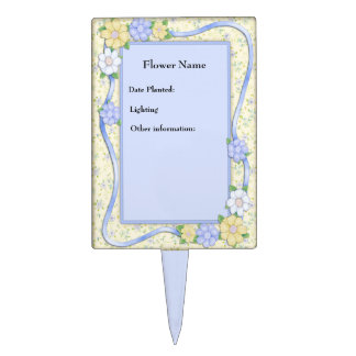 Sweet Florals Plant Marker - Customize Cake Picks
