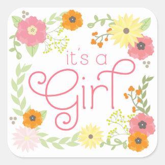 Sweet Flower Garden Baby Shower Stickers
