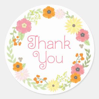 Sweet Flower Garden Thank You Stickers