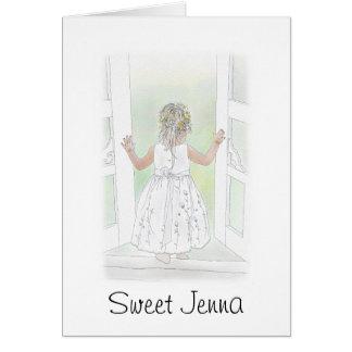 Sweet Flower Girl Card