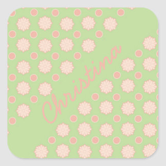 Sweet Flower Puffs Personalized Stickers