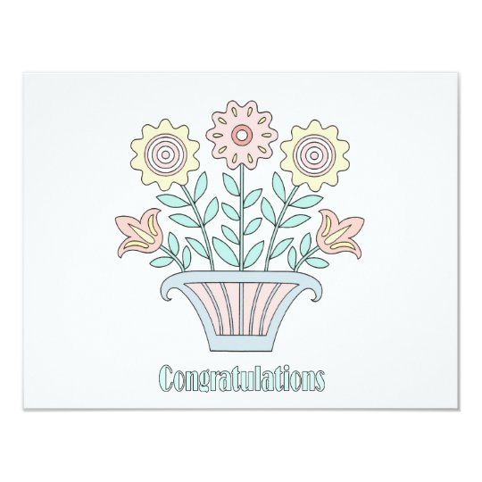 Sweet Flowers Congratulations Card