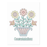 Sweet Flowers Congratulations Post Cards
