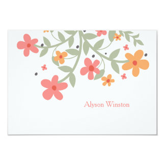 Sweet Flowers Personalized Notecard