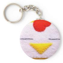 Sweet fluffy chicken keychain