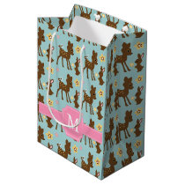 Sweet Forest Animals Monogrammed Medium Gift Bag