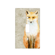 Sweet Fox Light Switch Cover