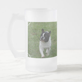 Sweet French Bulldog Frosted Beer Mug