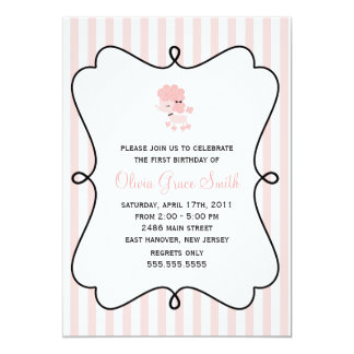 French Poodle Invitations Announcements Zazzle - Birthday invitation cards in french