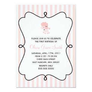 French birthday invitations zazzle sweet french poodle girls birthday party invitation stopboris Choice Image