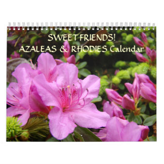 SWEET FRIENDS Calendar Gift Azaleas Rhodies Flower