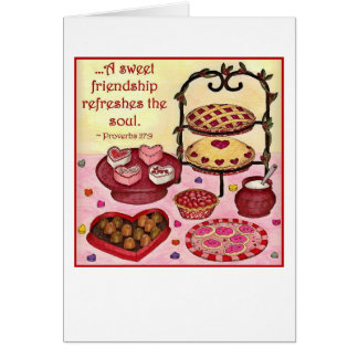 Sweet Friendship Valentine Card (customizable)