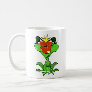 sweet frog with crown and kiss mouth mugs