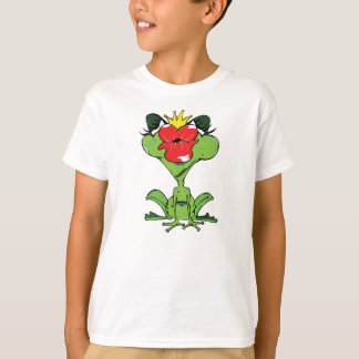 sweet frog with crown and kiss mouth T-Shirt