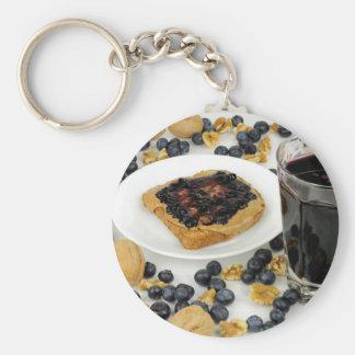 Sweet Fruit Nut Treats Keychain