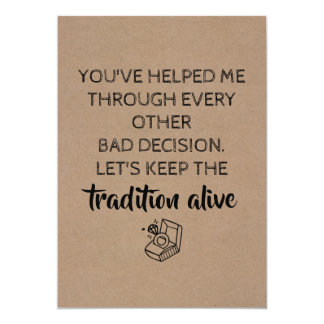 Sweet Funny Bridesmaid / Maid of Honor Proposal Invitation