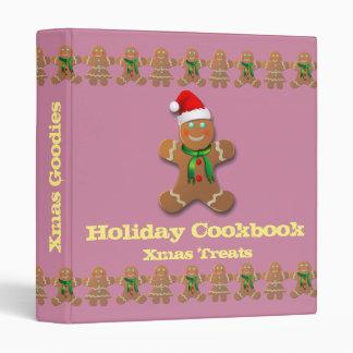 Sweet & Funny Gingerbread Cookies 3 Ring Binder