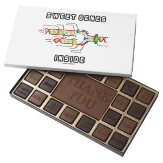 Sweet Genes Inside DNA Replication Humor 45 Piece Box Of Chocolates
