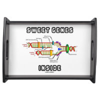 Sweet Genes Inside DNA Replication Humor Serving Tray