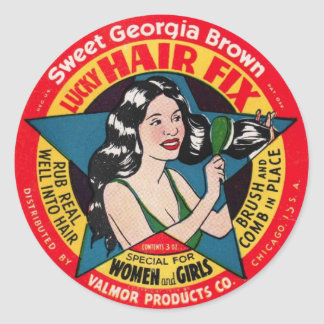 Sweet Georgia Brown Classic Round Sticker