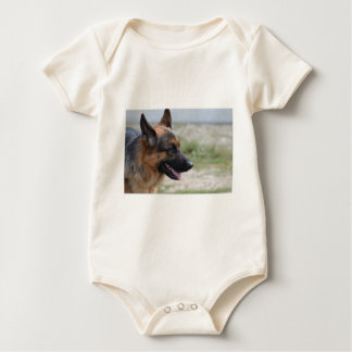 Sweet German Shepherd Dog Baby Bodysuit