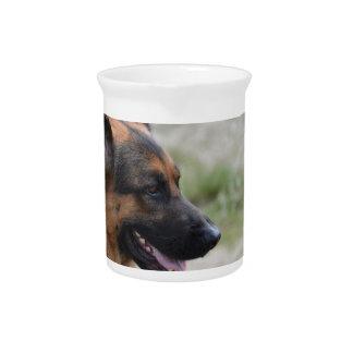 Sweet German Shepherd Dog Drink Pitcher