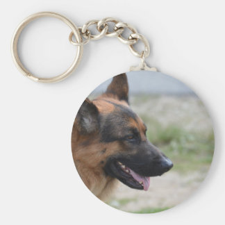 Sweet German Shepherd Dog Keychain