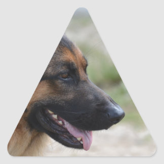 Sweet German Shepherd Dog Triangle Sticker