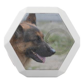 Sweet German Shepherd Dog White Bluetooth Speaker