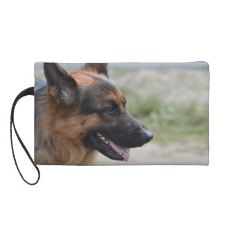 Sweet German Shepherd Dog Wristlet Purse