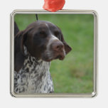 Sweet German Shorthaired Pointer Christmas Ornament