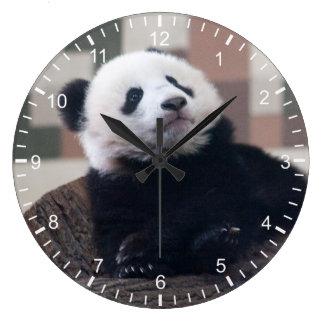 Sweet Giant Panda Baby Large Clock