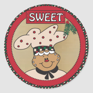 Sweet Gingerbread Classic Round Sticker