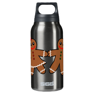 Sweet Gingerbread Couple Insulated Water Bottle