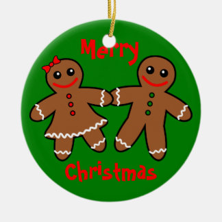 Sweet Gingerbread Couple Christmas Tree Ornament