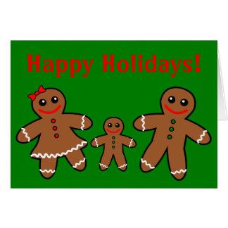 Sweet Gingerbread Family - Boy Card