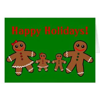 Sweet Gingerbread Family - Girl & Boy Card