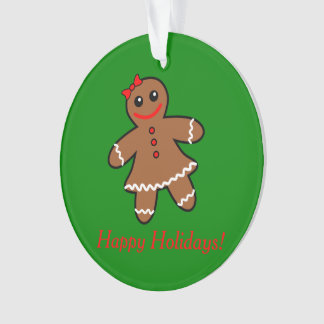Sweet Gingerbread Woman Ornament