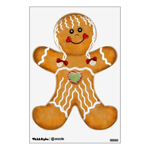 Sweet Gingerbread Woman Wall Stickers