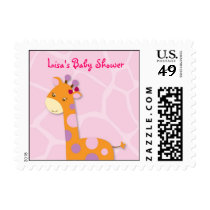 Sweet Giraffe Jungle Girl Postage Stamps
