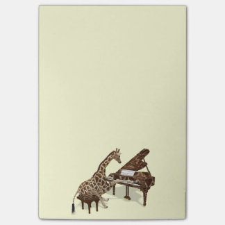 Sweet Giraffe Loves To Play Piano Post-it® Notes