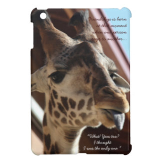 Sweet giraffe, tongue out! Friendship is... Case For The iPad Mini
