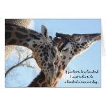Sweet Giraffes, Anniversary Card