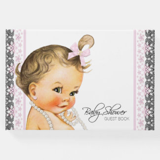 Sweet Girl Baby Shower Guest Book