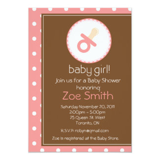 Sweet Girl Baby Shower Invitation