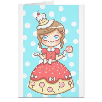 Sweet Girl Birthday Greeting Card